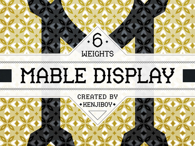 14Mable Display free font