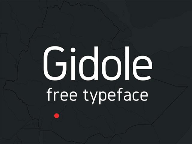 15Gidole Sans free font