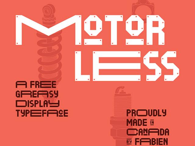 16Motorless free font