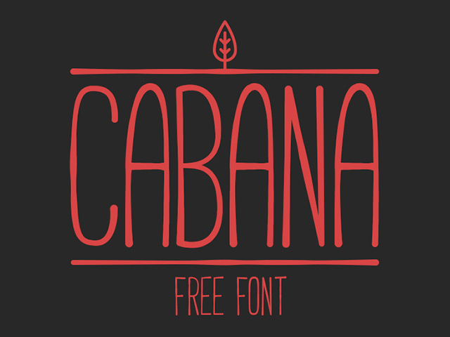 18Cabana free font
