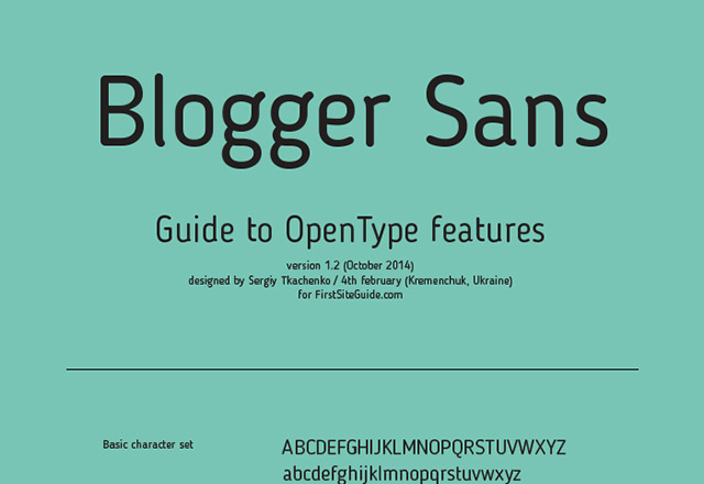 2Blogger Sans free font