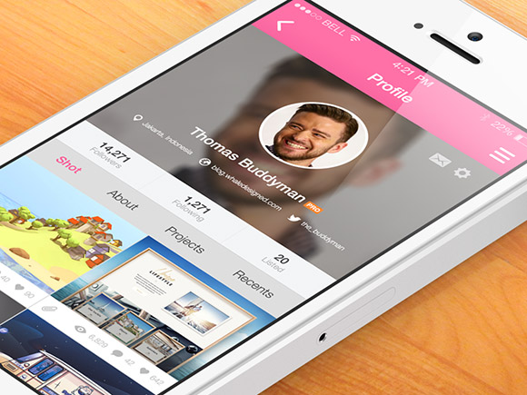 6Free App Design Templates