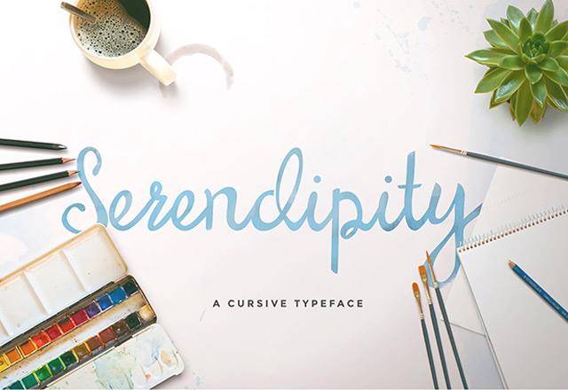 8Serendipity Script free font