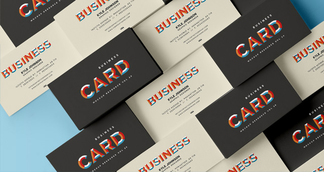 Free Business Card Template Psd MockUp Vol29