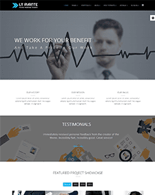 LT Avante Onepage – Free Responsive Corporation / Business Onepage WordPress theme