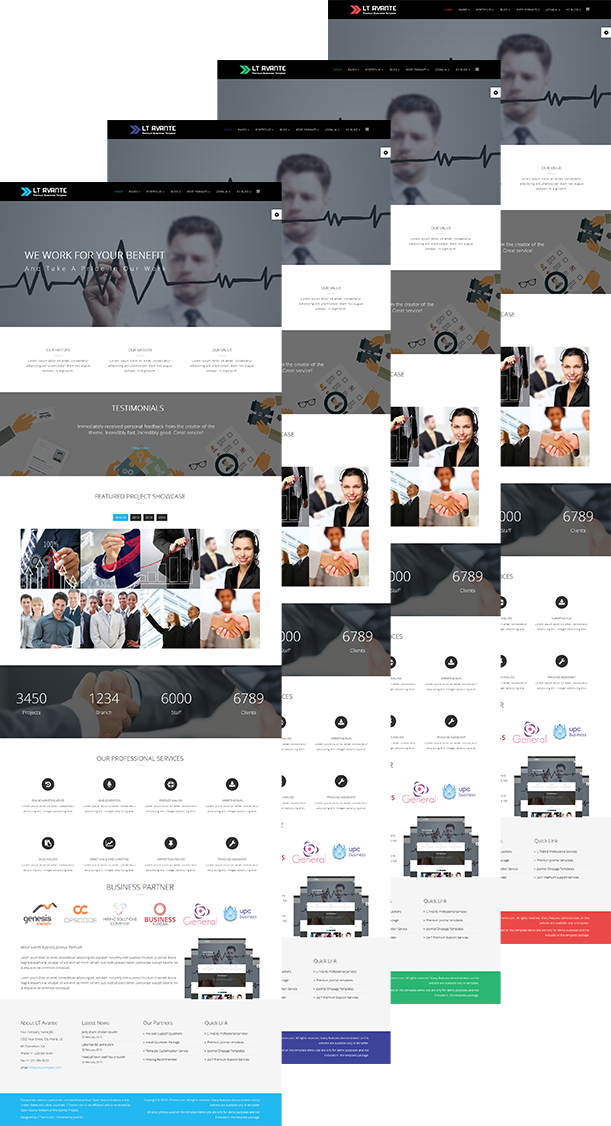 Lt avante free joomla business template 4 default color styles wajeb Image collections