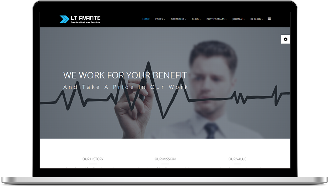 Lt avante free joomla business template lt avante joomla template wajeb Image collections