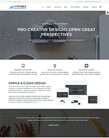 LT Stable Onepage – Free Responsive One Page Business Professional Joomla template