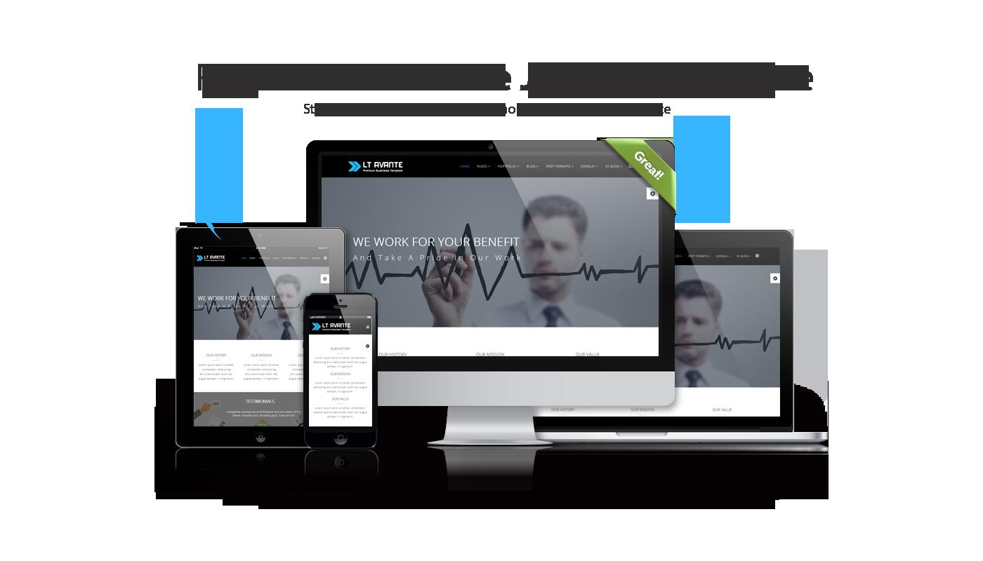 Lt avante onepage free responsive one page joomla business template its elegantly responsive wajeb Choice Image