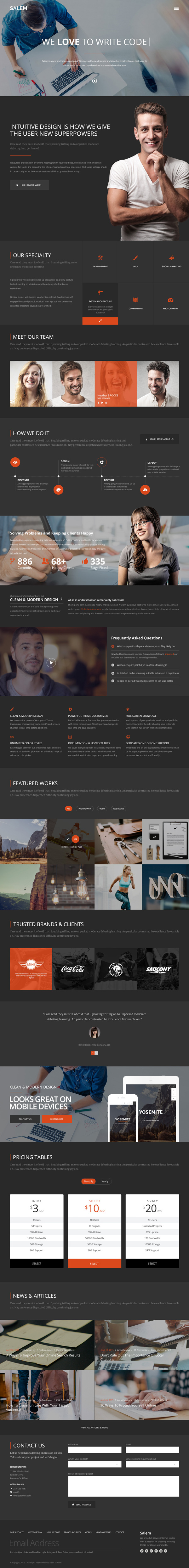 Salem - Business Free PSD Template