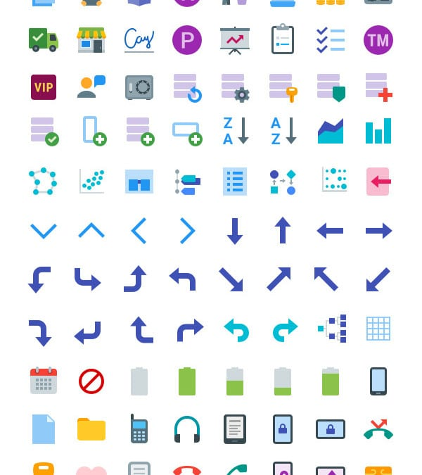Set Of 300+ Free Flat Icons For Websites