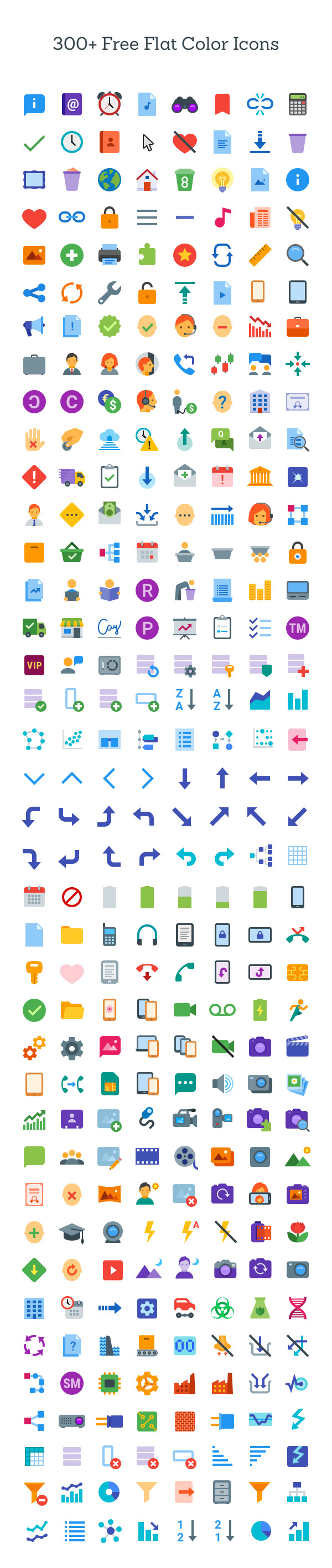 Free Flat Icons For Websites