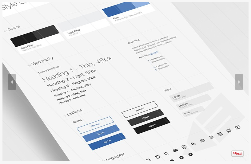 UI Style Guide Free PSD Template