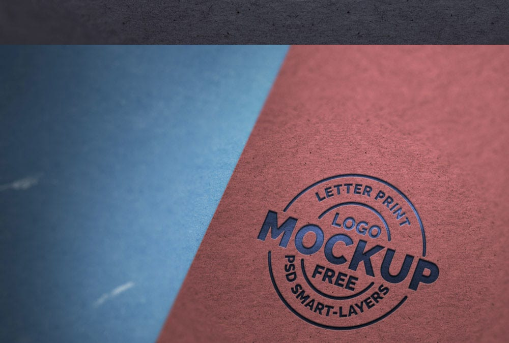 Paper Letterpress Free Logo Mockups