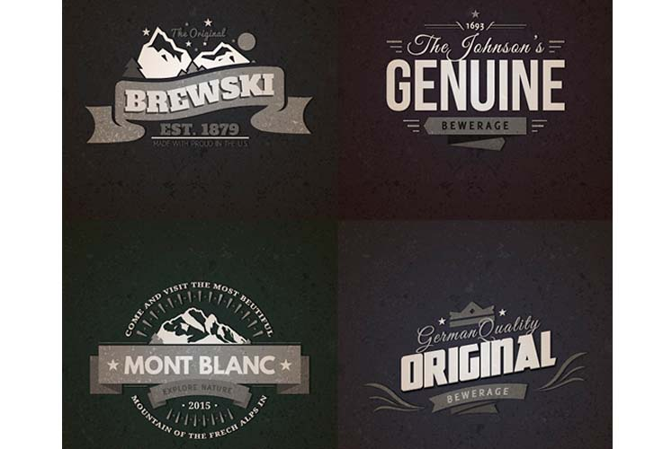 Vintage Logo Badges With Ai Psd - Hot Girls Wallpaper