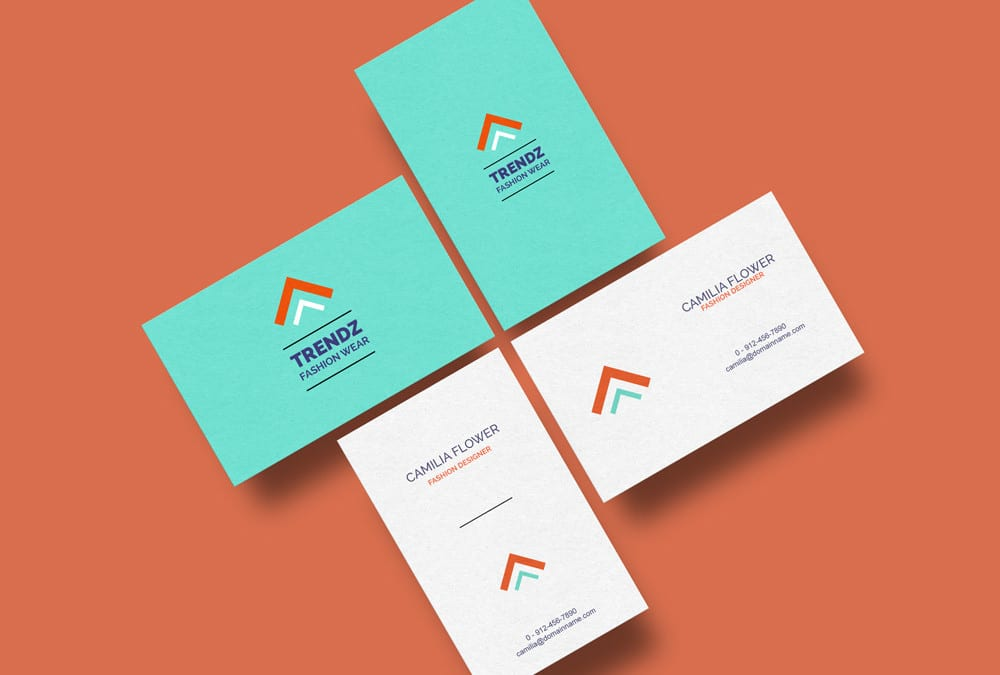 Business cards mockup free template flashek