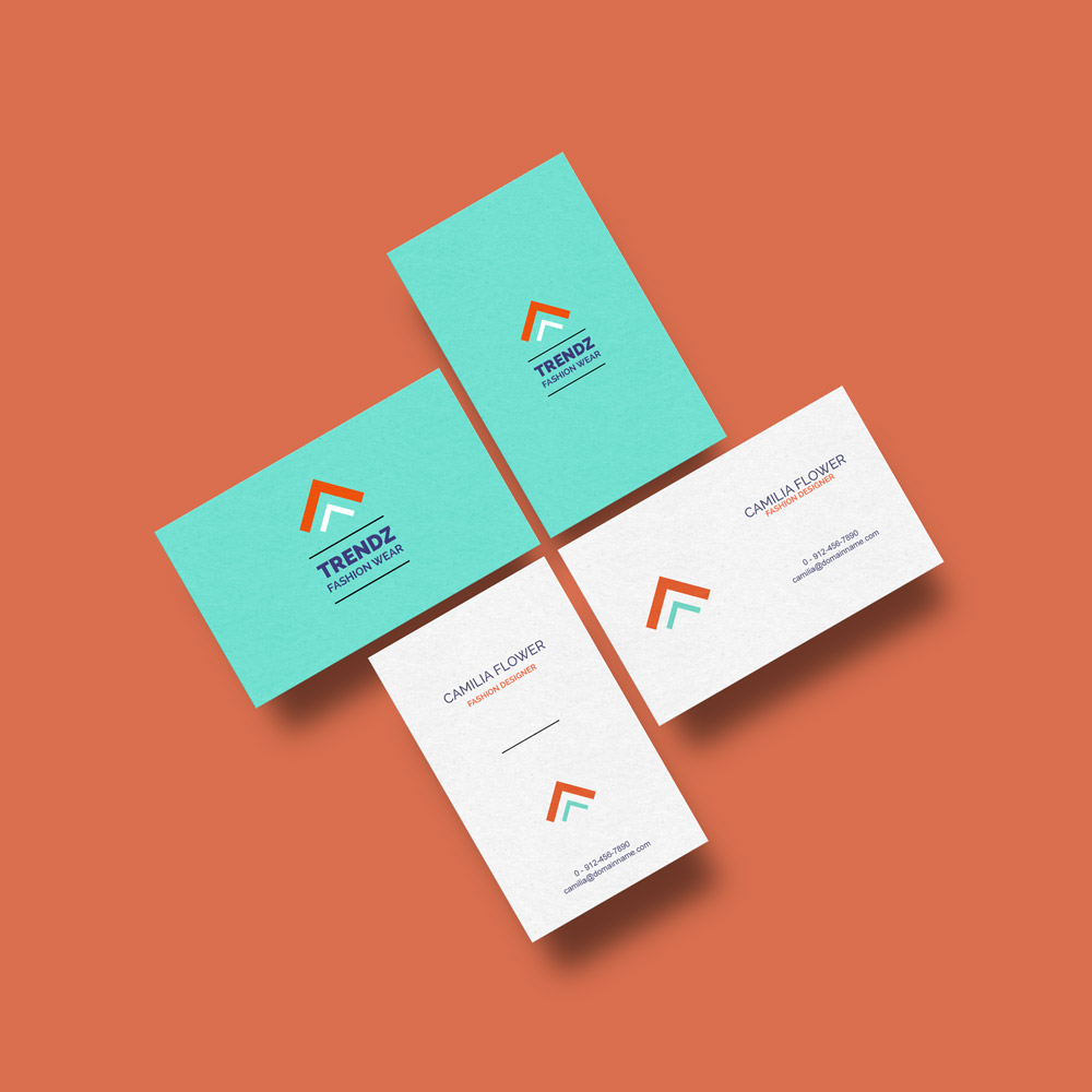 Business cards mockup free template for Business card online free