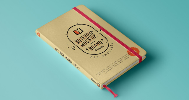 Classic Notebook MockUp PSD File
