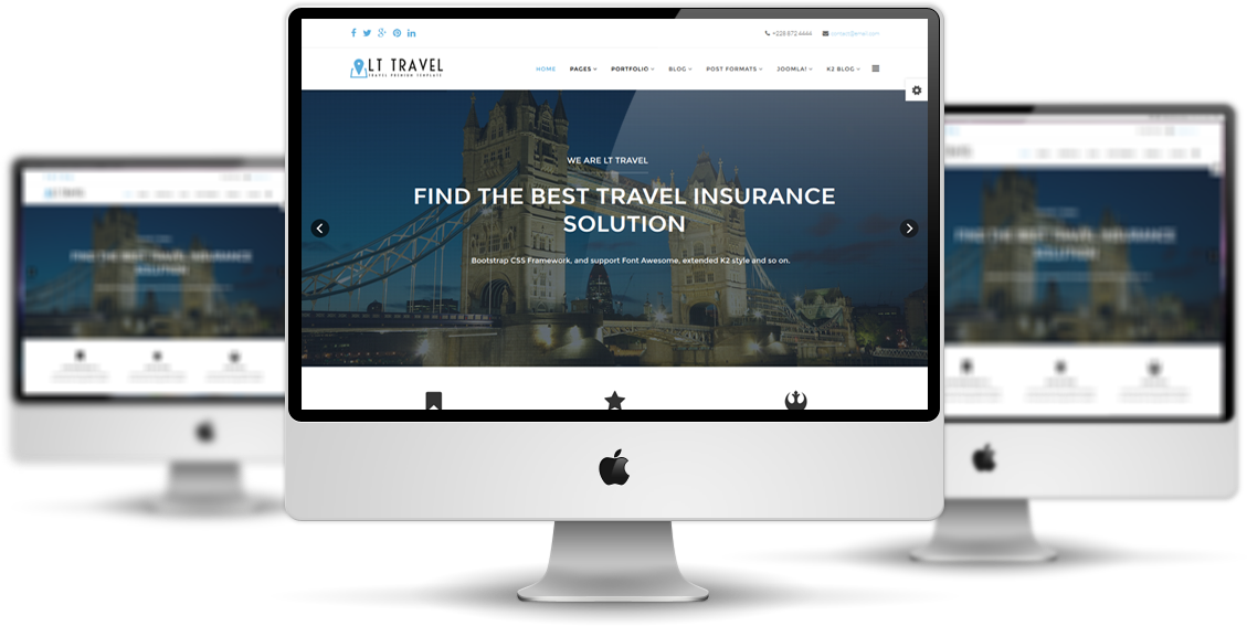 Best Joomla Template | Lt Travel Free Joomla Travel Template