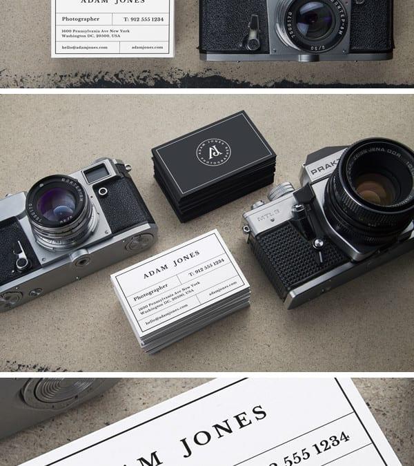 Cameras photorealistic business card mockup vintage cameras photorealistic business card mockup colourmoves Choice Image