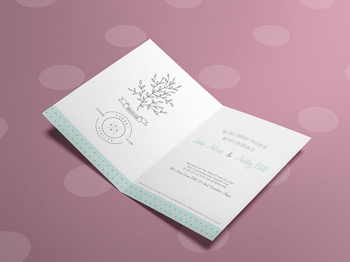 Free Invitation / Greeting Card Mockup PSD Template