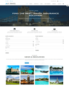 LT Travel Onepage – Free Hotel / Travel Onepage Joomla template