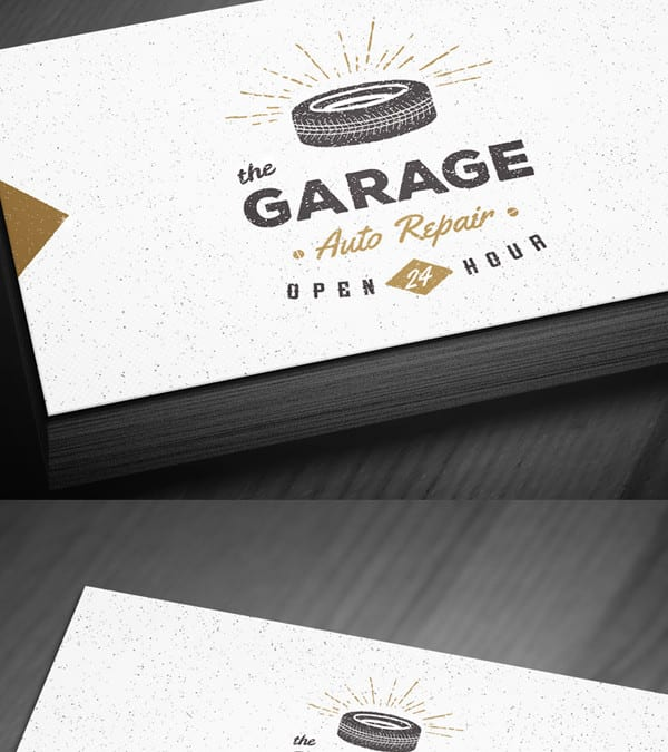 Vintage free business card template psd reheart