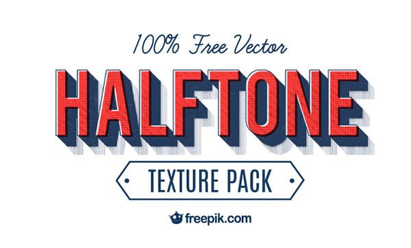 10 Halftone & Distressed Free Texture Packs