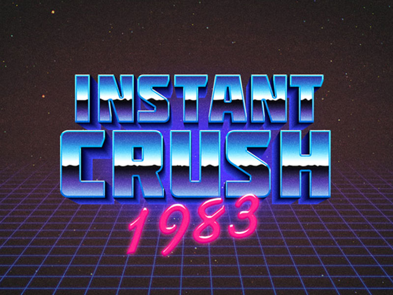 80s Retro Typography Effect Free Download