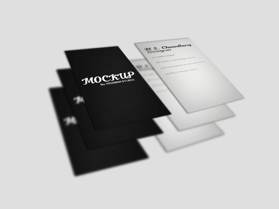 Free Business Card Mockup Templates
