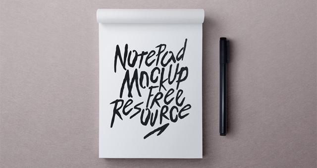 Notepad-PSD-MockUp template