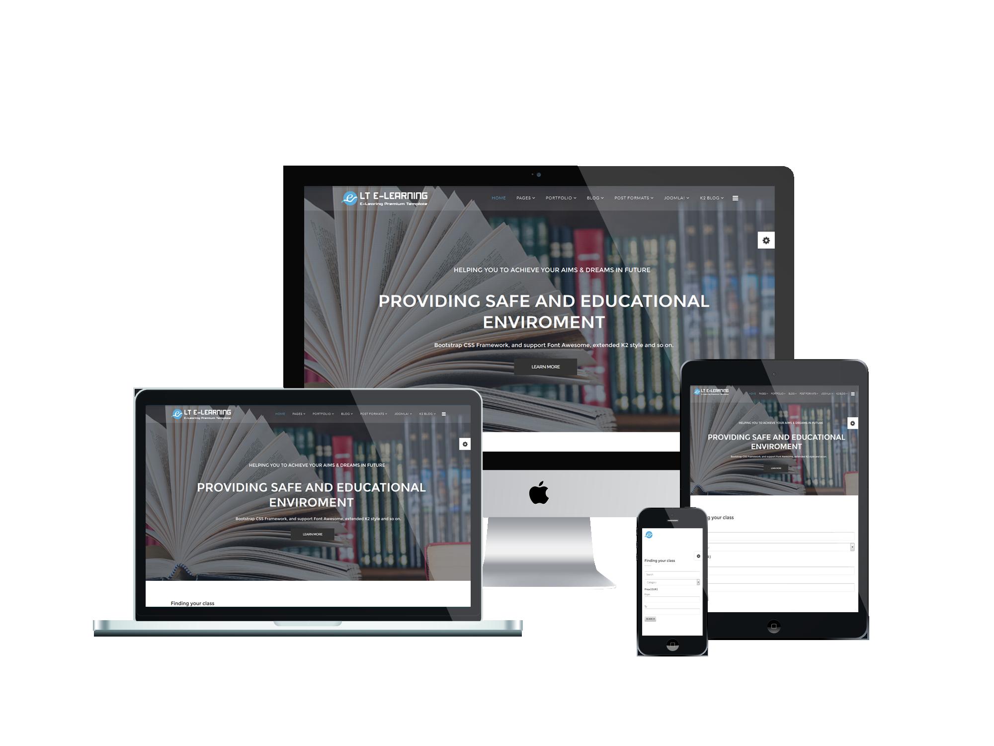 LT eLearning - Free Joomla eLearning template