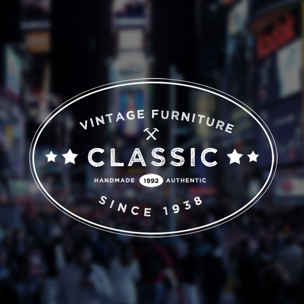 set of 5 vintage logo badges free psd templates