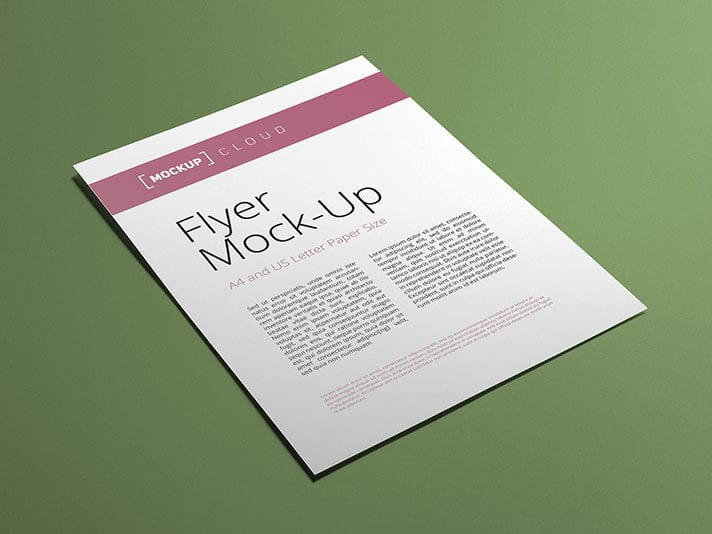 Free Flyer Poster Mockup Download