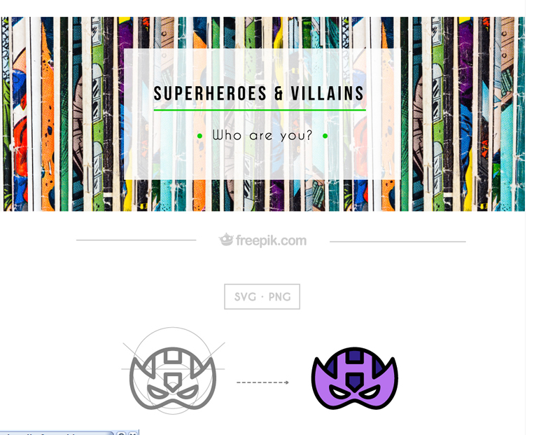 A Huge Collection Of Flat-styled Superhero Icons Free Download