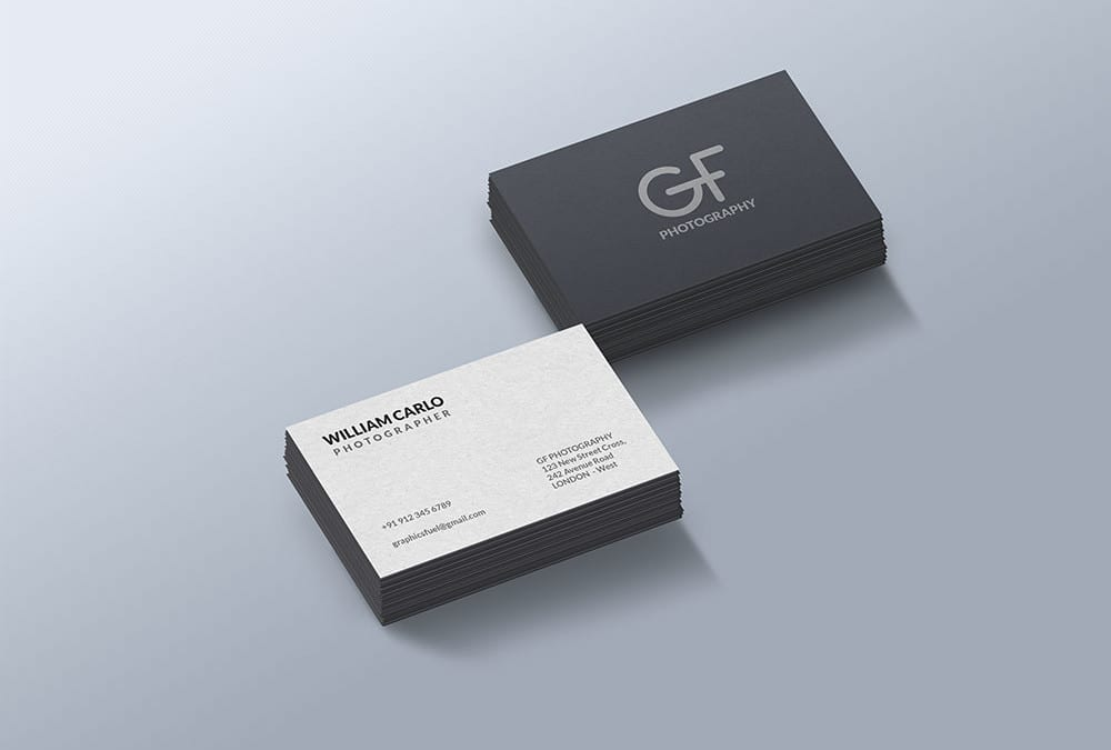 Free business card mockup template reheart Choice Image