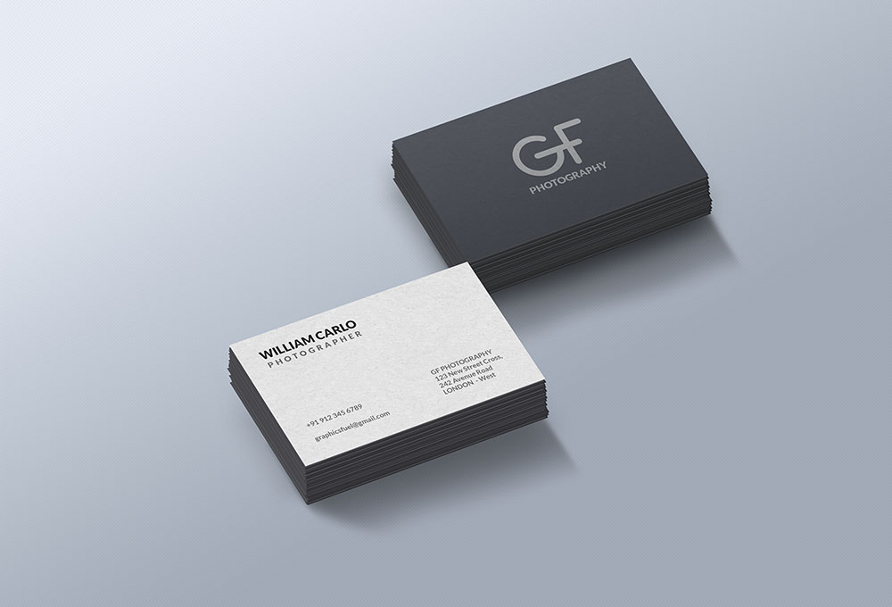 Free business card mockup template reheart Image collections