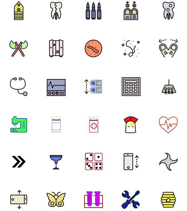 RetinaIcon: Collection Of 200 Colored Free Icons