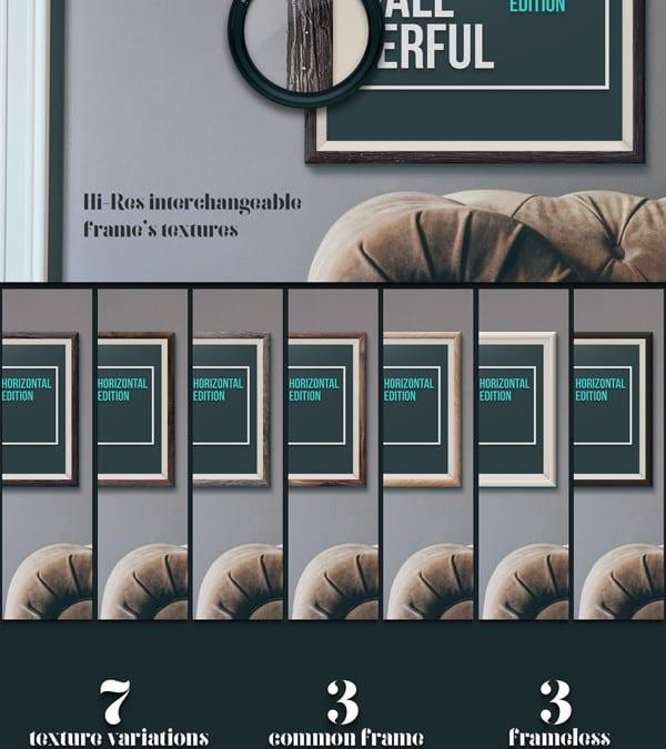 High Quality Horizontal Frames Free Mockup Templates