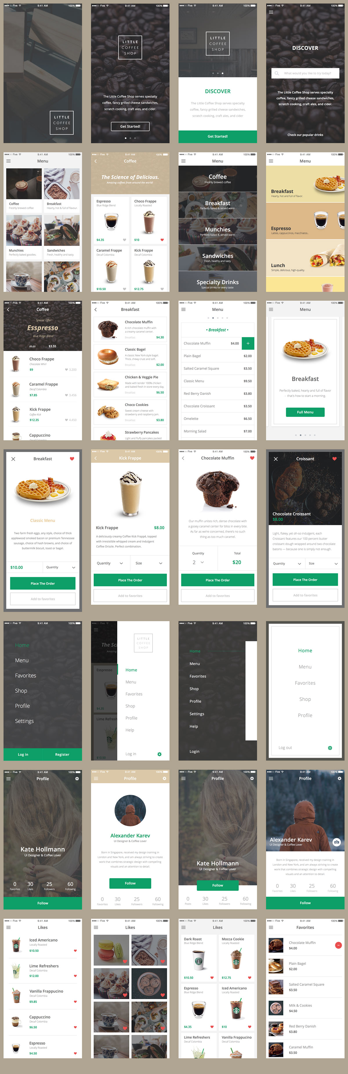 Ecommerce Free Mobile App UI Kit