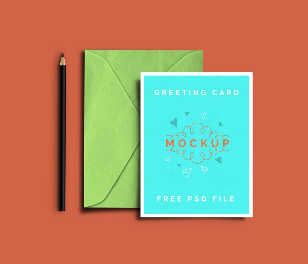 greeting card mockup psd templates. Black Bedroom Furniture Sets. Home Design Ideas