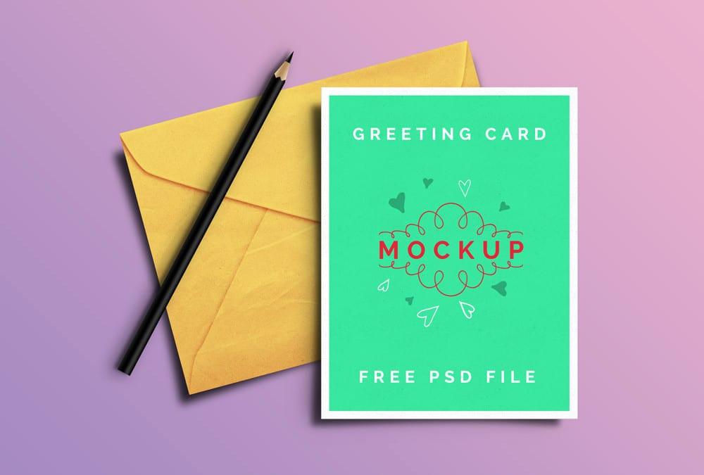 Great Greeting Card MockUp PSD Templates