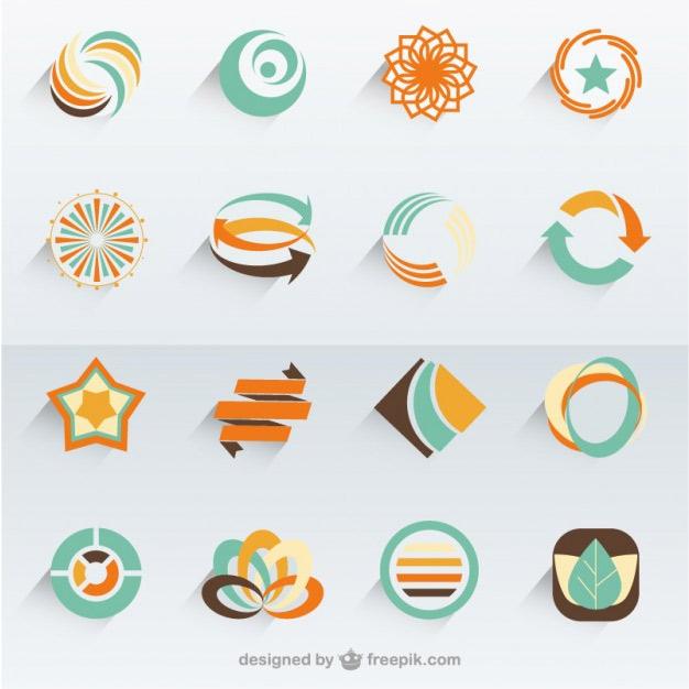 set of 300 free logo templates