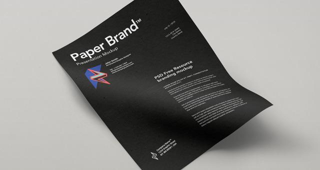 4A4 Paper PSD MockUp Template Vol11