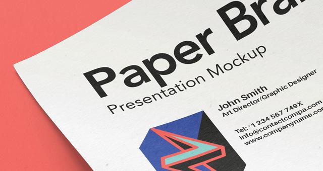 A4 Paper PSD MockUp Template Vol11