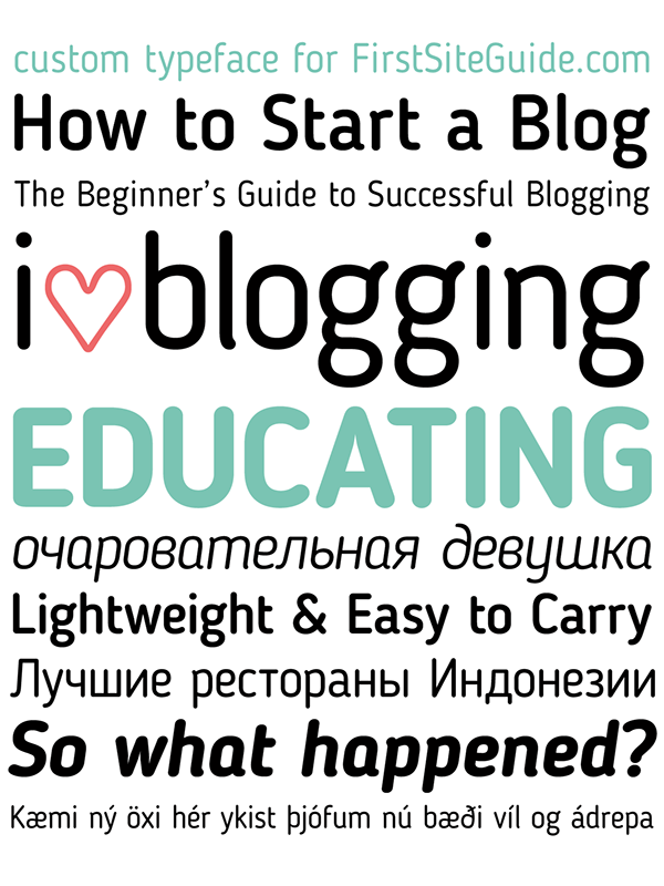 Blogger-Sans-free-font