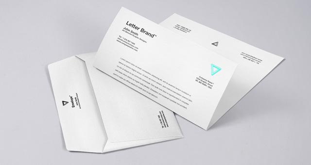 Envelope letter branding mockup psd template for Enveloppe fenetre word