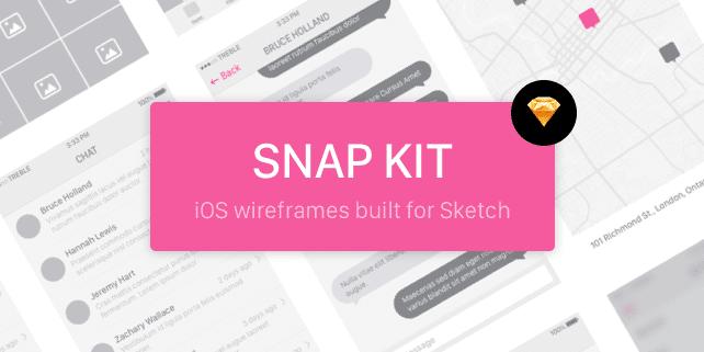 Snap iOS 8 Sketch Wireframe Kit