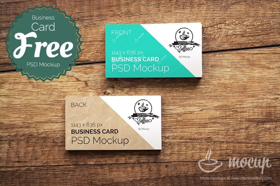 Business card free psd mockup template reheart