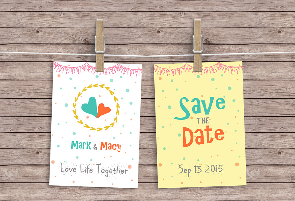 Hanging Cards Free Mockup PSD Template